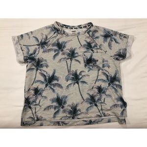 Victoria Secret Pink Palm Tree Crew neck top